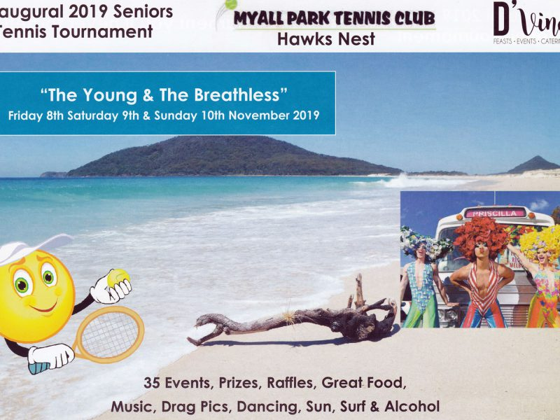 Inaugural 2019 Hawks Nest Seniors Tennis Tournament – November 8th – 10th – Book Your Accommodation Now!